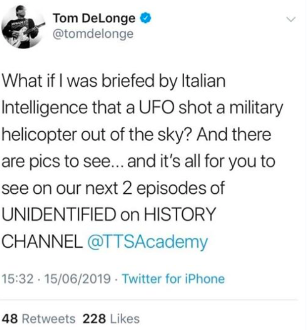 Grant Cameron: Italian Researchers Question DeLonge UFO/Helicopter